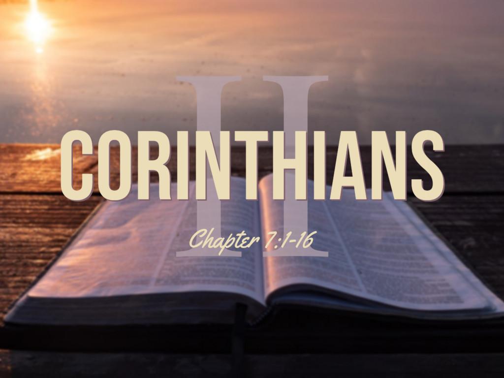 2 Corinthians 7:1-16