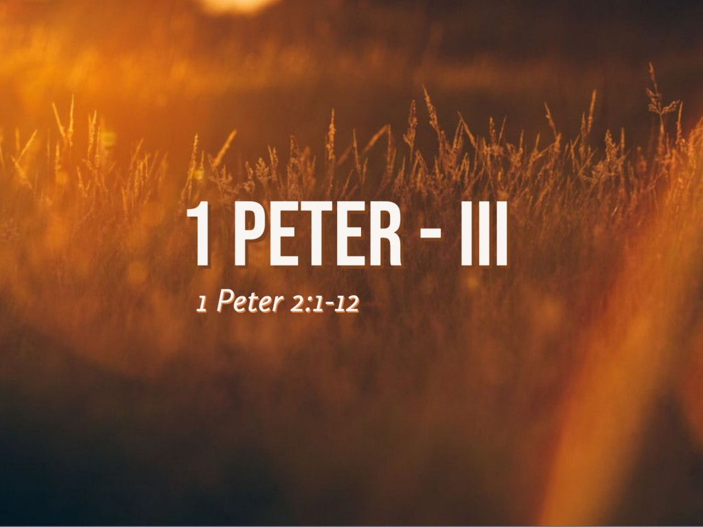 1 Peter - III
