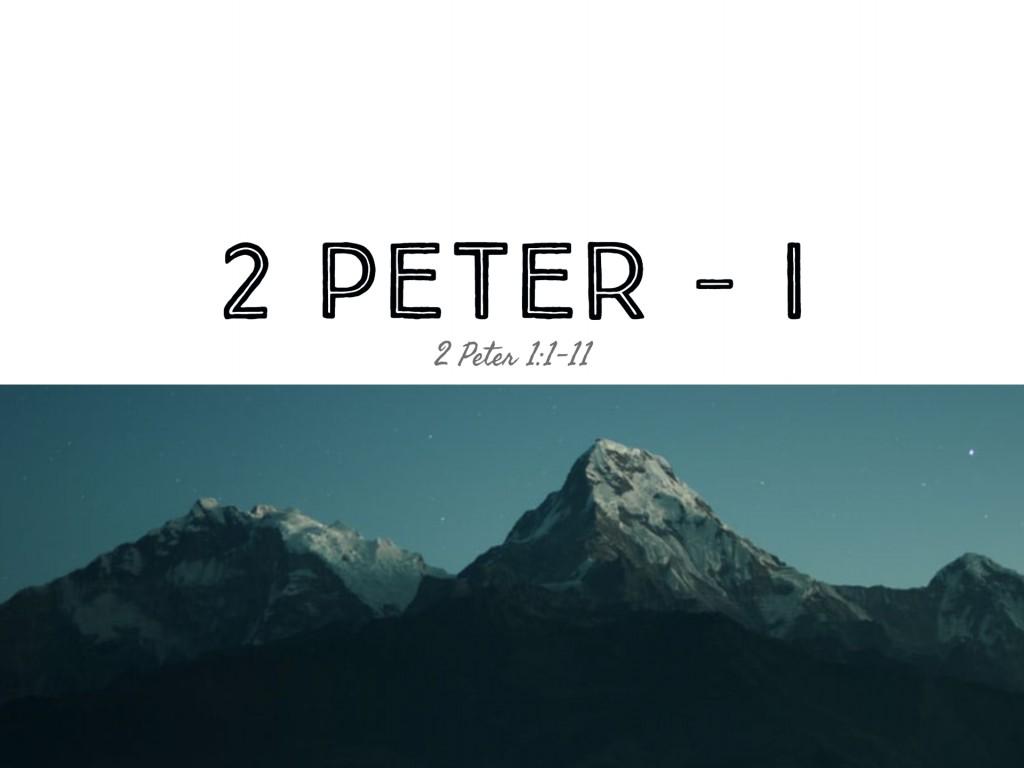 2 Peter - I