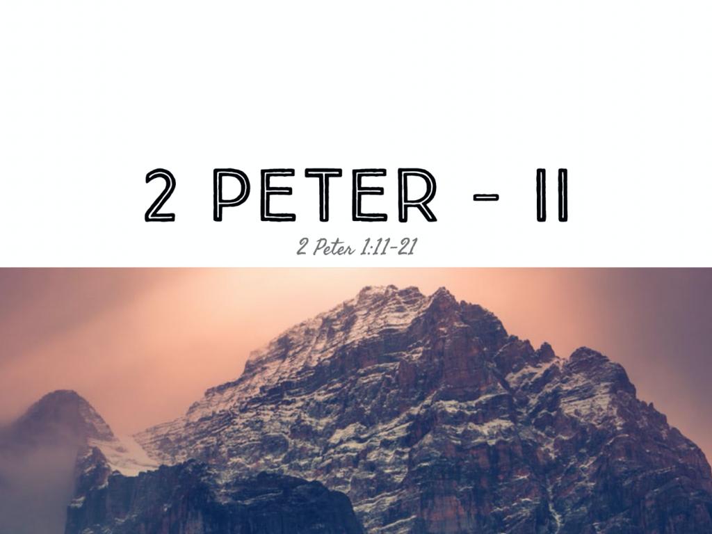 2 Peter - II